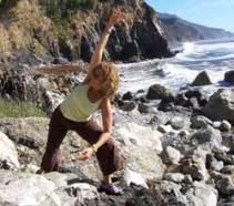 Cheryl Rosenfeld doing yoga